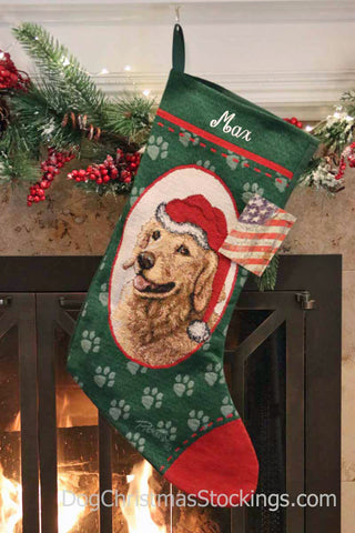 Golden Retriever Personalized Christmas Stocking