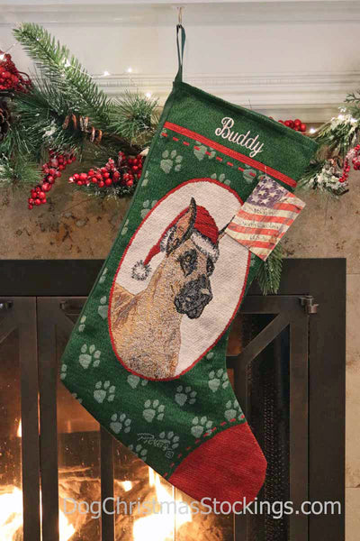 Great Dane Personalized Christmas Stocking