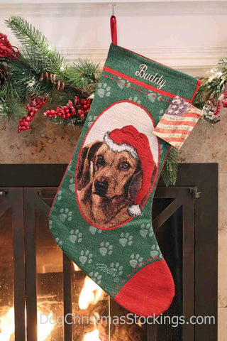 Dachshund Personalized Christmas Stocking