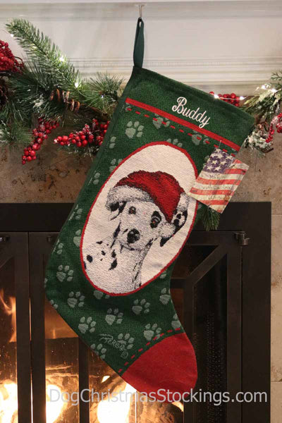 Dalmatian Personalized Christmas Stocking