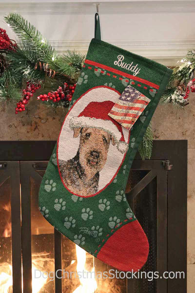 Airdale Personalized Christmas Stocking