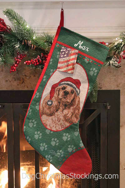 Cocker Spaniel Personalized Christmas Stocking