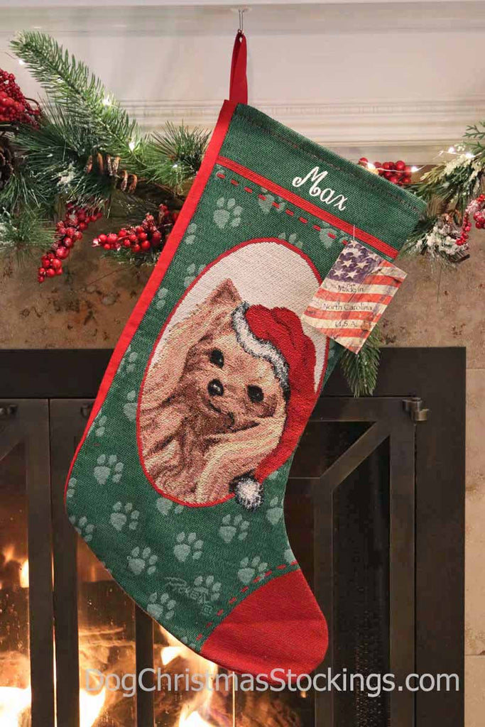Yorkshire Terrier Personalized Christmas Stocking