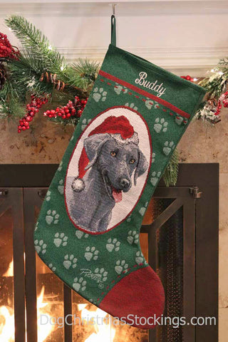 Weimaraner Personalized Christmas Stocking