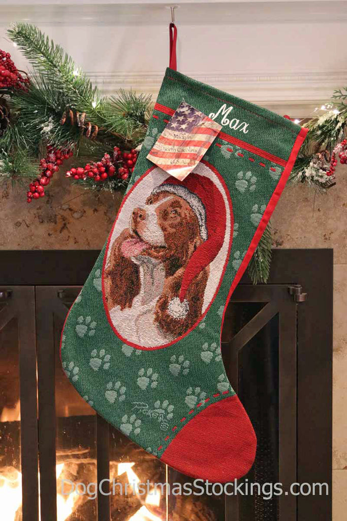 Springer Spaniel Personalized Christmas Stocking