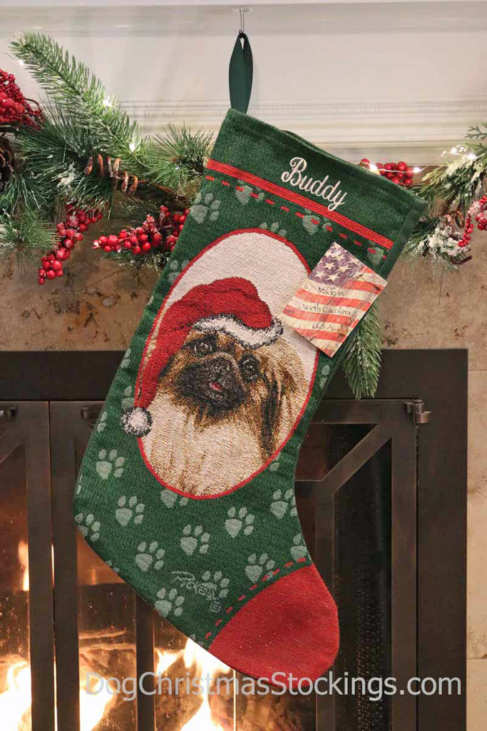 Pekingese Personalized Christmas Stocking