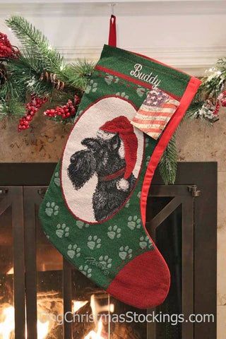 Scottish Terrier (Scottie) Personalized Christmas Stocking