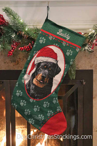 Rottweiler Personalized Christmas Stocking