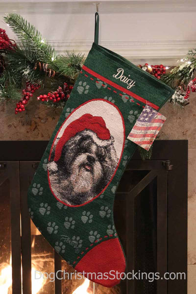 Shih Tzu Personalized Christmas Stocking