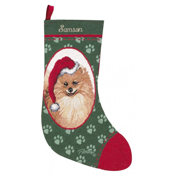 Pomeranian Christmas Stocking