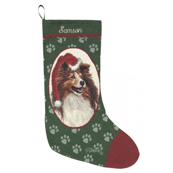 Shetland Sheepdog Christmas Stocking