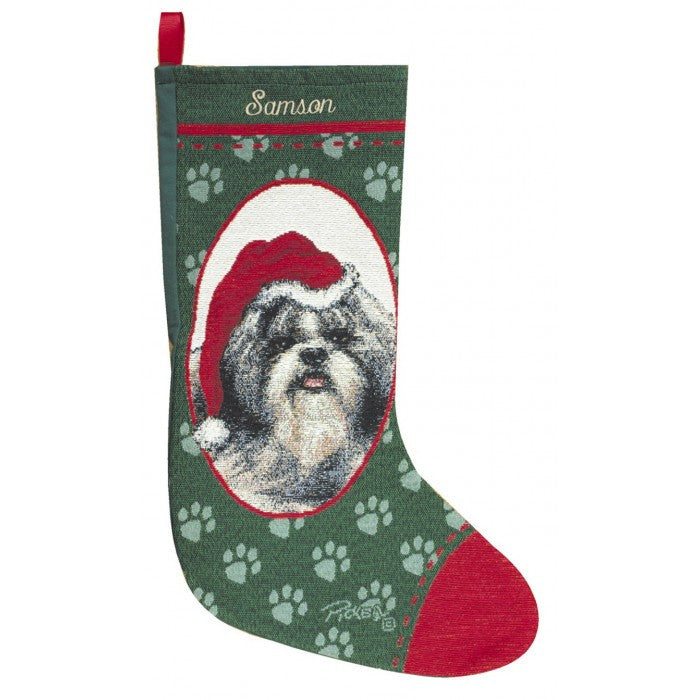 shih tzu christmas stocking for a personalized gift
