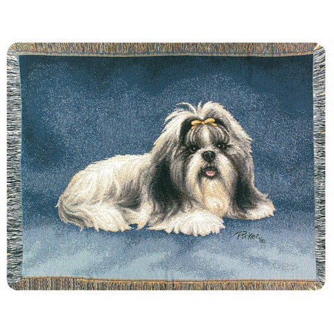Shih Tzu Blanket Throw