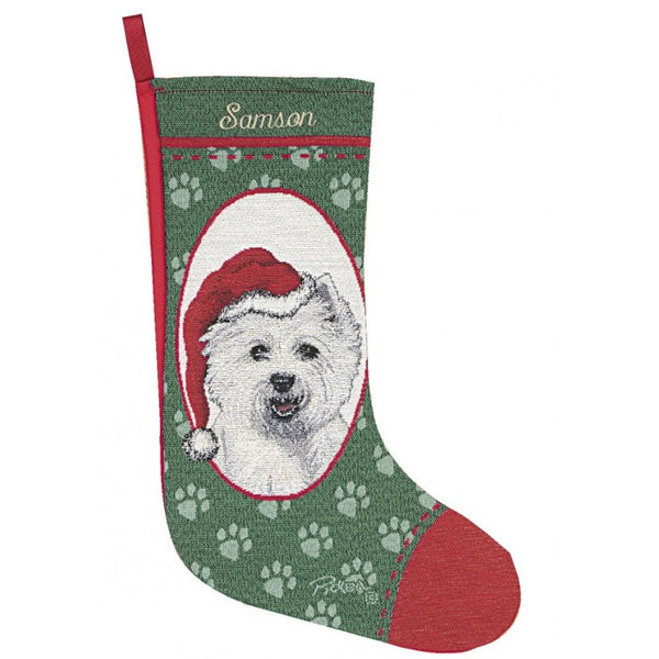 West Highland White Terrier Christmas Stocking