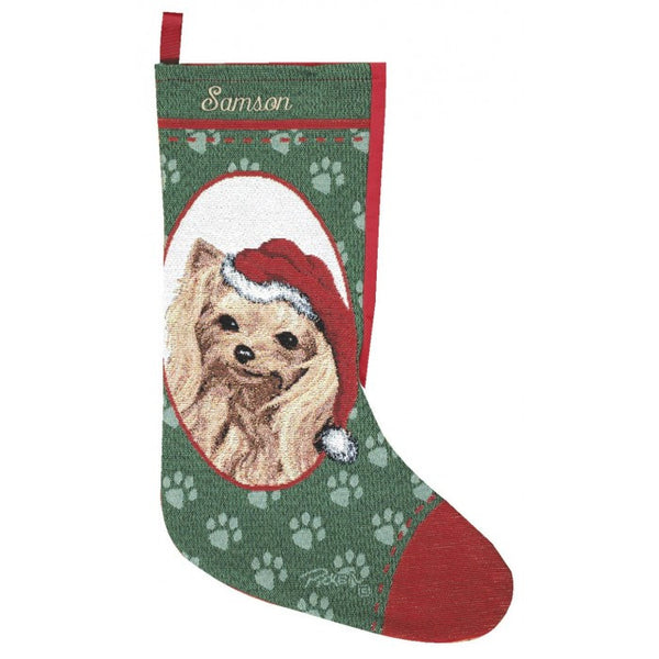 Yorkshire Terrier Christmas Stocking