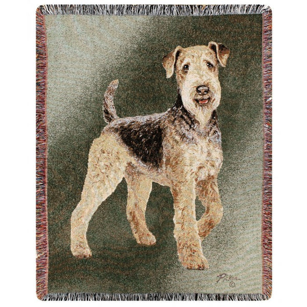 Airdale Personalized Throw Blanket