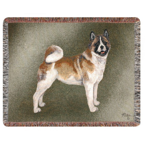 Akita Dog Throw Blanket