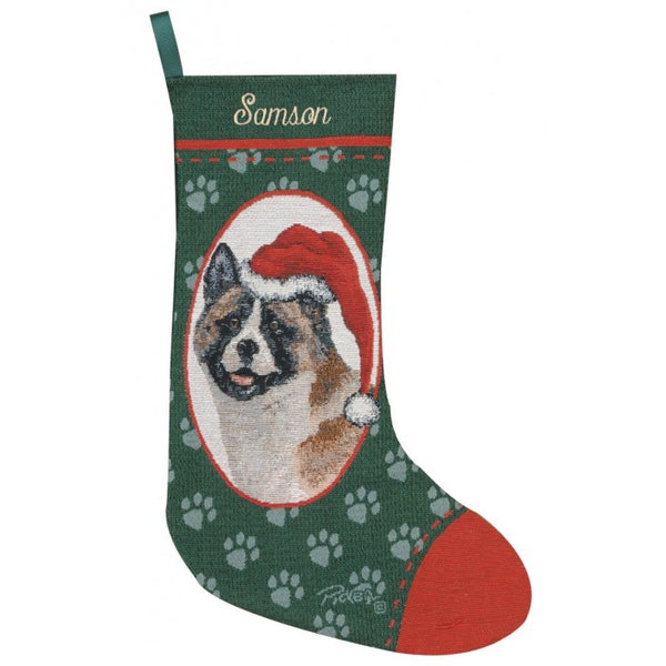 Akita Christmas Stocking