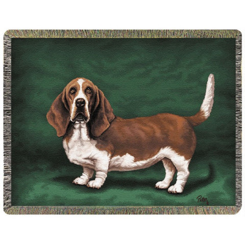 Basset Hound Throw Blanket