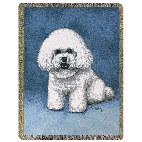 Bichon Frise Blanket Throw