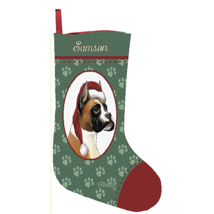 boxer christmas stockings personalized for dogs