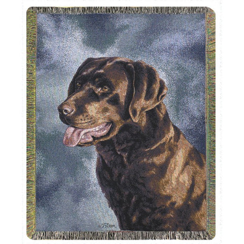 Chocolate Labrador Blanket Throw
