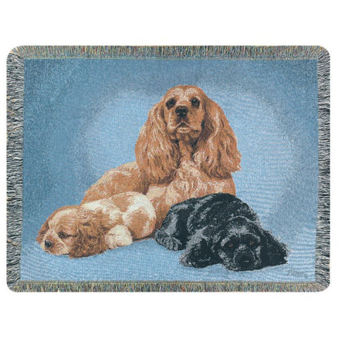 Cocker Spaniel Throw Blanket