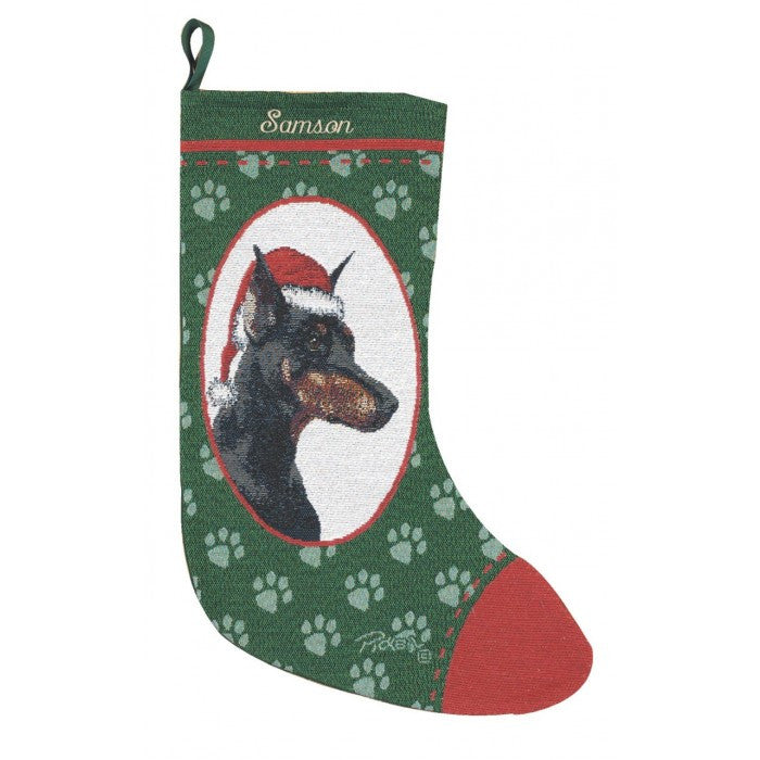 Doberman Christmas Stocking