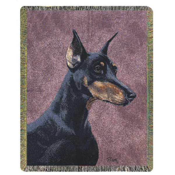 Doberman Throw Blanket