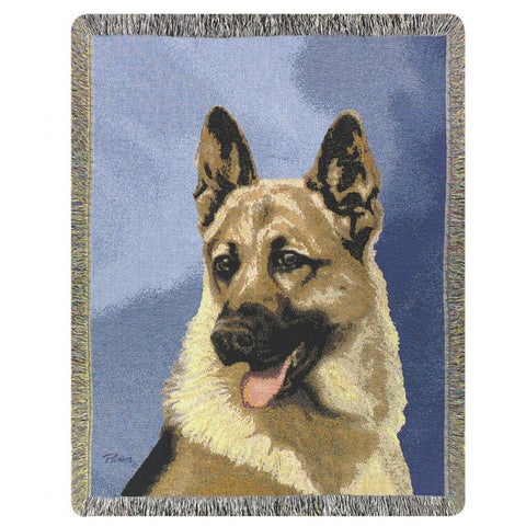 German Shepard Throw Blanket