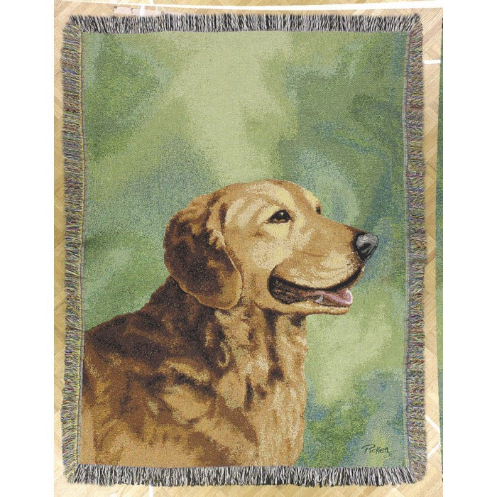 Gold Retriever Blanket THrow