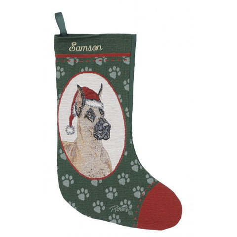 Great Dane Christmas Stocking