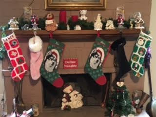 Husky Personalized Christmas Stocking