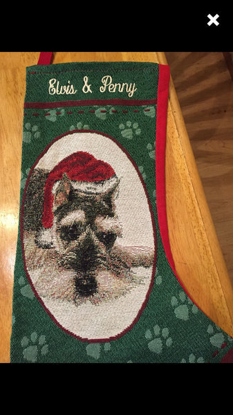 Schnauzer Personalized Christmas Stocking
