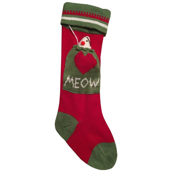 Meow Cat Christmas Stocking