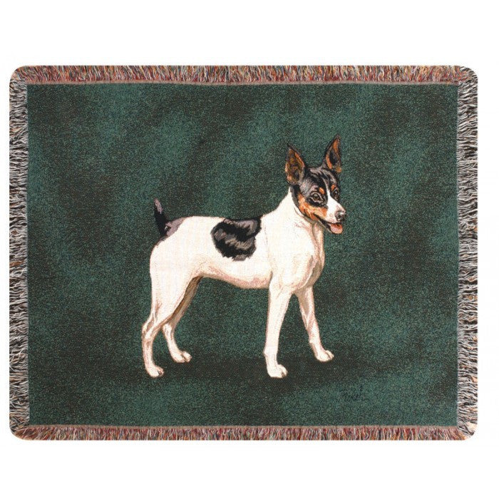 Rat Terrier Throw Blanket