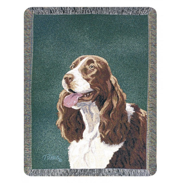 Springer Spaniel Throw Blanket