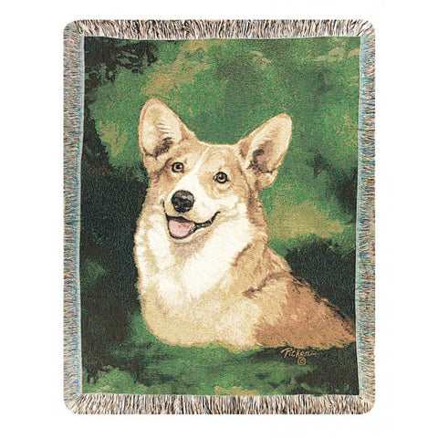 Welsh Corgi Throw Blanket