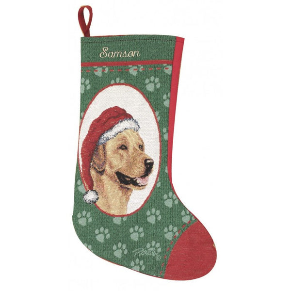 Labrador Retriever Yellow Personalized Christmas Stocking