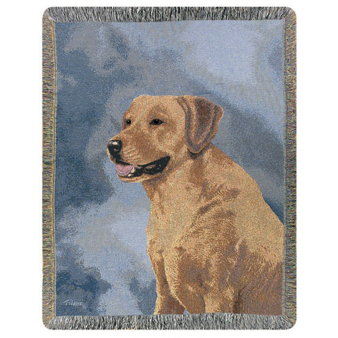 Yellow Labrador Blanket THrow