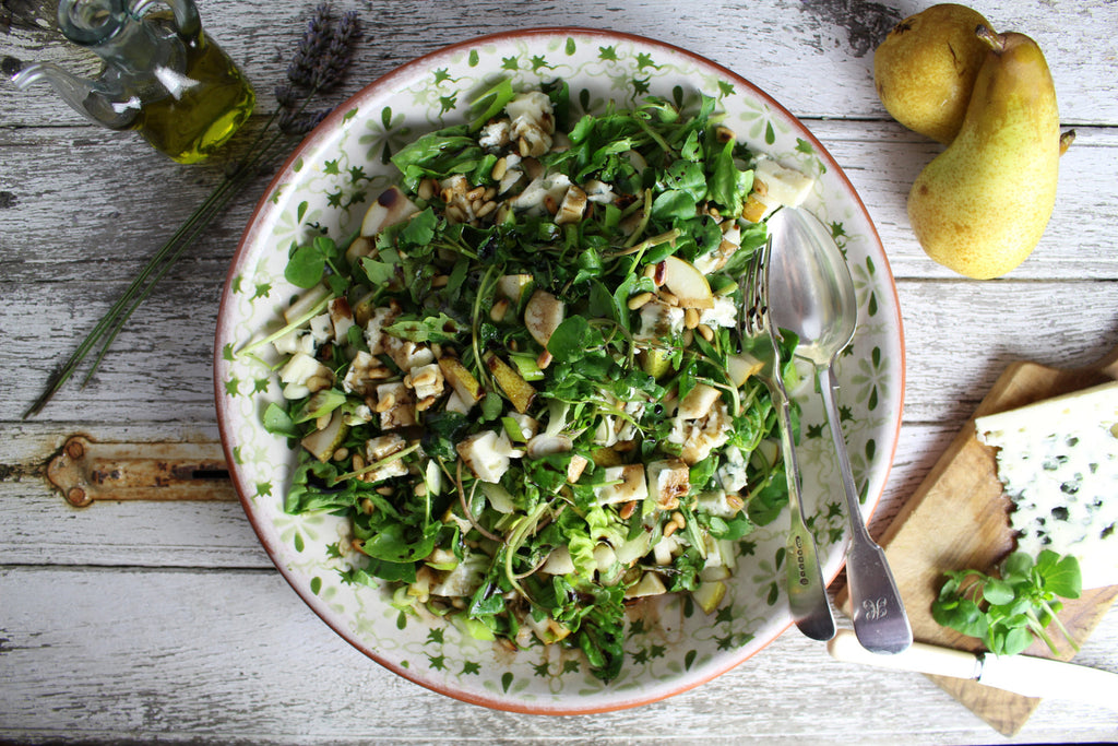 Creamy, salty, fruity, sweet, nutty, crunchy and a tad tart  salad