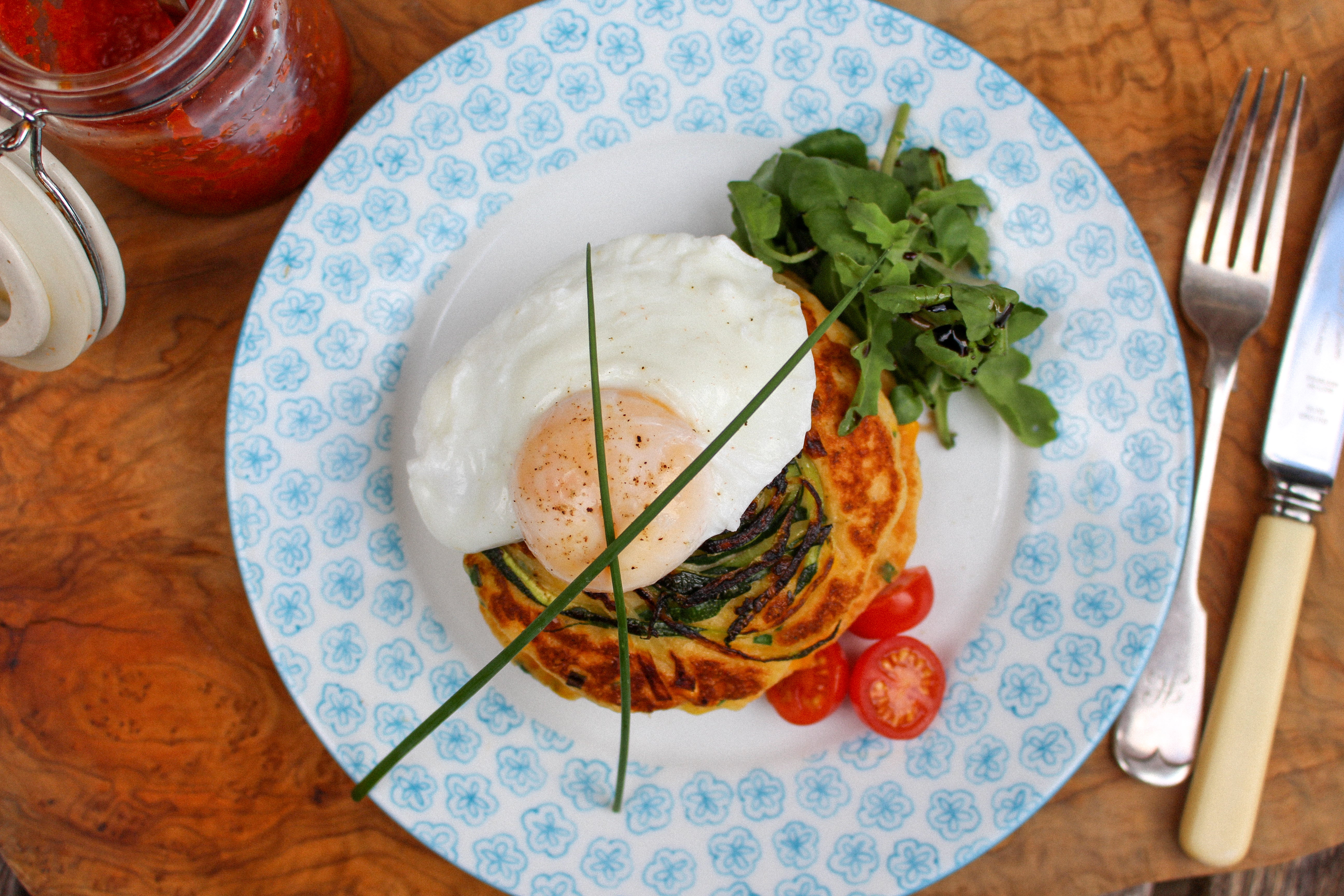 Courgette and sweetcorn fritters recipe kit