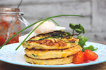 Load image into Gallery viewer, Courgette and sweetcorn fritters recipe kit