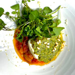 Load image into Gallery viewer, Fillet of cod with homemade pesto & slow cooked Venetian peppers