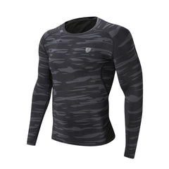 gray long sleeve bodybuilder shirt