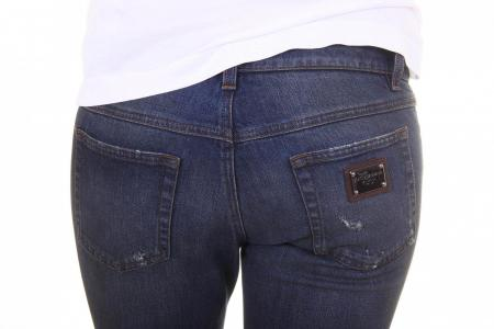 Dolce & Gabbana Pretty Fit Torn Jeans with Ankle Zipper