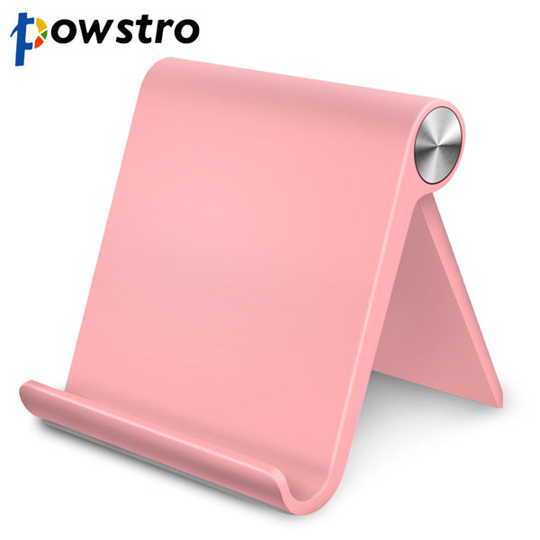 Powstro Universal Mobile Phone Tablet Stand Foldable Phone Holder Bracket For iPad iPhone Sony HTC And Phone Stand 5-11 Inch