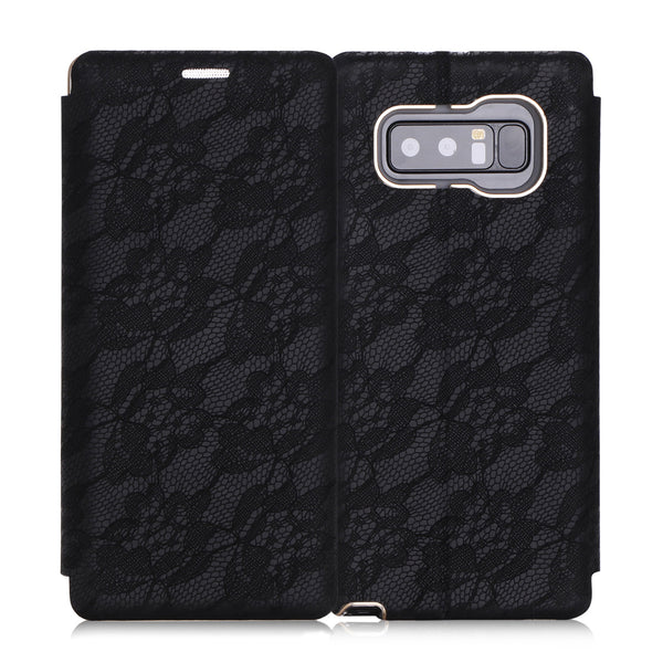 Note 8 Wallet Case, FYY 100% Handmade Luxury Wallet Case with Card Slot and Kickstand Function for Samsung Galaxy Note 8