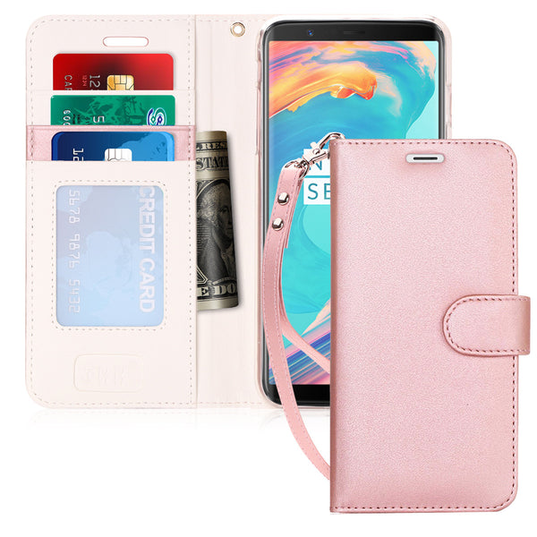 Note 8 Case, Galaxy Note 8 Case, FYY[RFID Blocking wallet Case] Handmade Flip Folio Case [Kickstand Feature] With ID and Credit Card Protector for Galaxy Note 8(2017)