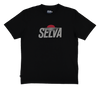 Sunset Logo t-shirt. 100% Organic Cotton. Selva Apparel